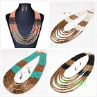Fashion Women Hand-woven Beads Jewelry Chain Choker Statement bib Necklace Gift