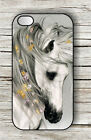 HORSE STALLION WHITE HEAD #3 CASE FOR iPHONE 4 , 5 , 5c , 6 -h3v4y