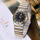 New Two-tone Mens Ladies Wristwatch Lover Gift Set Quartz Analog Business Casual