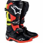 ALPINESTARS TECH 10 BLACK RED YELLOW MENS ADULT MOTOCROSS MX ATV BOOTS RIDING