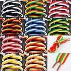 Coloured Thick Long Striped Flat Shoe Strings Bootlaces Shoelaces For Sneakers