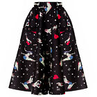 Hell Bunny 50s Swing Skirt Forever Dead Zombie Pinup Rock No Roll Style