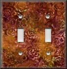 Switch Plates And Outlet Covers - Batik Floral - Orange Rust - Home Decor