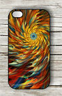 FRACTAL COLORFUL SPIRAL CASE FOR iPHONE 4 , 5 , 5c , 6 -f3b5h