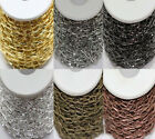 Hot 1/10M Silver/Golden Plated Metal Cross Chain (Ring Size: 10x5mm) 6 Colors