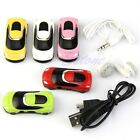 Car Shape 16G Support Micro SD TF Card Mini Fashion USB MP3 Music Player Speaker