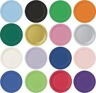 Round Paper Plates Solid Colours Party Tableware Events Catering Food 7'' & 9''