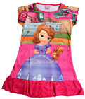 Disney Sofia The First Girls Children Kids Pyjama Nightwear Dress 3-10Y Hot Pink