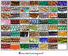 6mm Round Czech Glass Beads 25 Choose Color