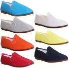 10583 Flossy Shoes Womens Plimsolls Mens Sizes available Slip on Canvas Pumps