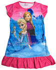 Disney Elsa Anna Olaf Children Kids Girls Pyjama Nightgown Dress Hot Pink 3-10Yr