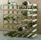 WINE RACK 42 BOTTLE CLASSIC WOOD AND METAL DESIGN