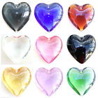 1 LARGE GLASS PUFFED HEART PENDANT 44mm approx - Choice of colours