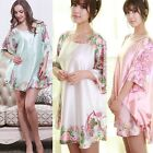 Hot Women Mini Dress Nightgown Summer Beach Silk Blend Sleepwear Shirt Dress