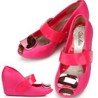 Lovely Cute Pink Wedge-Heel Womens Jelly Shoes