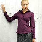 PREMIER LADIES LONG SLEEVE POPLIN SHIRT -30 COLOURS - SIZE 6 TO 26