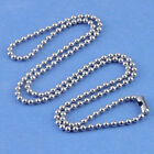 5pc Stainless Steel Bead Ball Chain Necklace Metal Solid 2mm Mens Matching Link