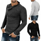 Fall Winter Mens Stylish Slim Fit Tee Tops Casual Long Sleeve Polo Shirt T-shirt