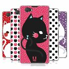 HEAD CASE CATS AND DOTS SILICONE GEL CASE FOR SONY XPERIA Z1 COMPACT D5503