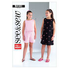 Butterick 4161 Sewing Pattern to MAKE Easy Girls Dress Shorts & Top - See & Sew