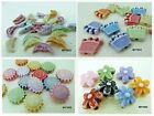 ASSORTED COLOR FROSTED ACRYLIC BEAD CHARMS B0003