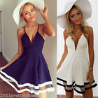 Hot Sexy Lady Summer Casual Sleeveless Party Evening Cocktail Short Mini Dress