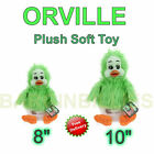 "New 8"" Or 10"" Plush Soft Orville The Duck 'Keith Hariis' Green Fluffy Kids Toy"