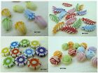 ASSORTED COLOR FROSTED ACRYLIC BEAD CHARMS B0004