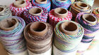 1m,5m or 10m Hemptique Natural Hemp cord/twine Variegated  Colours NEW!