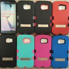 For SAMSUNG Galaxy S6 EDGE TUFFHYBRID SKIN STAND COVER CASE + SCREEN PROTECTOR