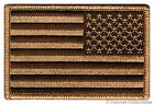 AMERICAN FLAG iron-on BIKER PATCH USA embroidered US PATRIOTIC CAMO TAN LEFT