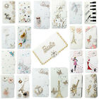 3D Bling Handmade Diamonds Wallet PU Leather Flip Case Cover For Samsung #3