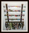 "Earring & Jewelry Organizer Display Holder Choice of Fabic ""TEEN"" Glitzy Girl"