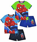 Boys Spiderman T Shirt and Shorts Set Kids Summer Outfit New Age 3 4 6 8 Years