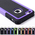 Heavy duty Armour Shockproof hybric Skin Rubber Case Cover For Apple iPhone 5c
