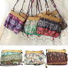 Fashion Exotic Women Boho Bohemian Weave Straw Strap Beach Messenger Bag Handbag