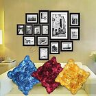 Hot New 40x40cm Pillow Case Satin Rose Flower Cushion Cover Sofa Bed Decorations