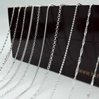 "Hot~2pcs/lot 15 Styles Jewelry Cheap 925 Sterling Silver Necklace Chains 16""-30"""