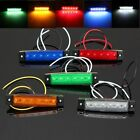 12V 6 LED, Bus Truck Lorry Side Marker Indicator Bright Light Sidelamp 5 Color