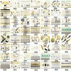 Latest 56 Assorted Styles Golden Silver Metallic Temporary Tattoos Jewelry Fancy