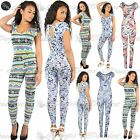 Women Ladies Celeb Floral Cap Sleeve Keyhole All In One Piece Playsuit Jumpsuit