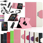 For Amazon Kindle Fire HDX 7 inch 2013 PU Leather Folio Stand Cover Case Bundles