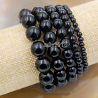 Wholesale Natural Gemstone Beads Stretch Bracelet Healing Reiki 4,6,8,10,12mm