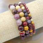 Wholesale Natural Gemstone Beads Stretch Bracelet Healing Reiki 4,6,8,10,12mm фото
