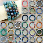 Kyпить Wholesale Natural Gemstone Beads Stretch Bracelet Healing Reiki 4,6,8,10,12mm на еВаy.соm