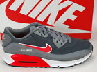 Nike Air Max 90 Lunar90 Grey Bright Crimson Running Casual NSW 705302-002