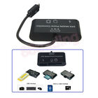 3 in 1 OTG On The Go Host Cable+Micro SD TF Card Reader Adapter for Mobile Phone