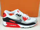 Nike Wmns Air Max 90 OG Infrared White Cool Grey Black Casual Women 742455-100