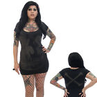 Women's Kreepsville 666 Jumbo Skull Skeleton Tunic Dress Gothic Horror Fashion