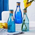 Glass Bottle with Hanging Fish Ceramic Icon - Three assorted colours available.